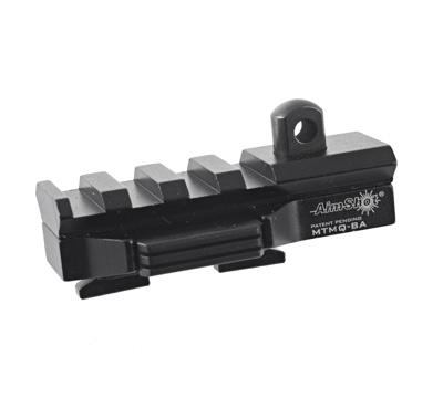Quick Release M-LOK  Bipod Adapter w/ Picatinny Rail