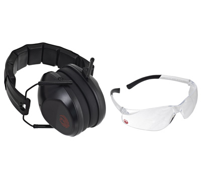 Ruger Safety Glasses & Muffs Combo Kit