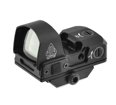 UTG® Reflex Micro Dot, Green 4 MOA Single Dot, Adaptive Base
