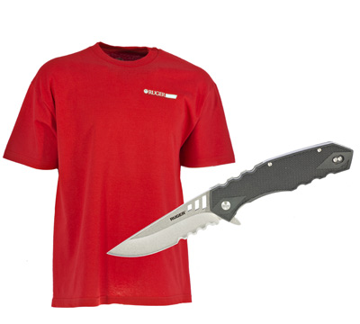 Ruger Follow-Through™ Knife Gift Set with Free X-Large T-Shirt