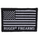 Flag Tactical Patch - Black & Gray