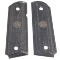 SR1911® Officer Double Diamond Wood Laminate Grip - Charcoal