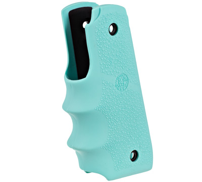 Mark IV™ 22/45™ Hogue® Rubber Grip w/Finger Grooves - Aqua