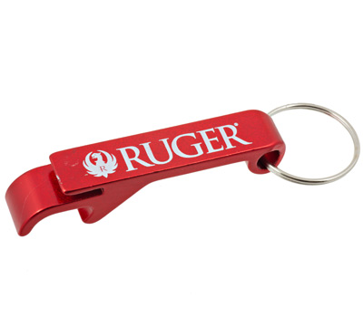 Red Aluminum Bottle Opener Keychain