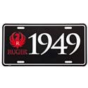 Ruger 1949 Black License Plate