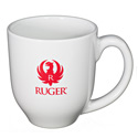 White and Red Bistro Mug