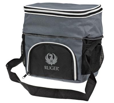 Gray and Black Cooler Bag
