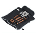 3 Piece  BBQ Tool Set with Tote