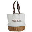 Coronado Canvas & Willow Basket Tote