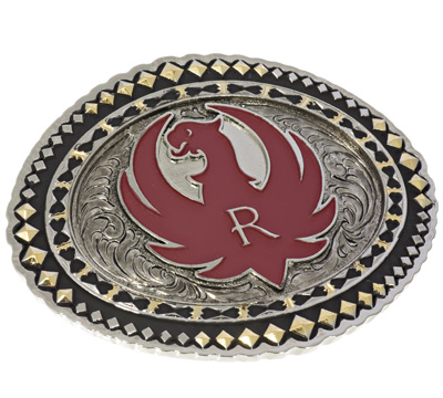 Belt Buckle with Red Eagle