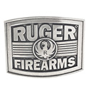 Ruger Firearms Antique Silver Tone Belt Buckle