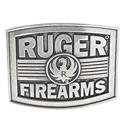 Ruger Firearms Antique Silver Tone Belt Buckle