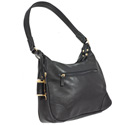 Hobo Style Purse with Holster - Black