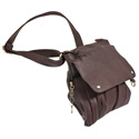 Medium Cross Body Style Purse with Holster - Chocolate Brown