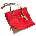 Tote Style Nylon Purse with Holster - Red