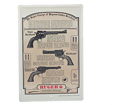Ruger® Magnum Caliber Revolvers Vintage Sign