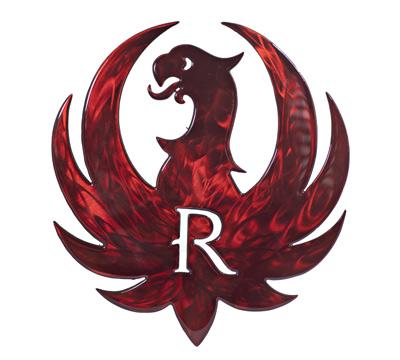 Ruger Eagle Metal Sculpture - Red - 16