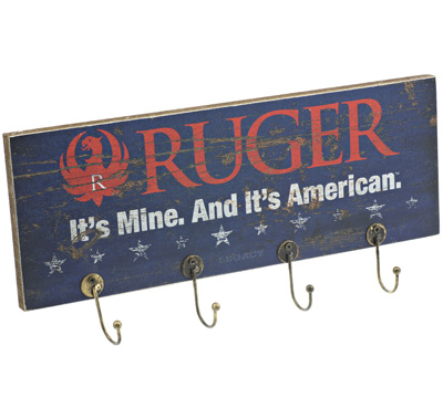Ruger Wood Plank Key Rack -  American