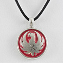 Pewter Red Pendant
