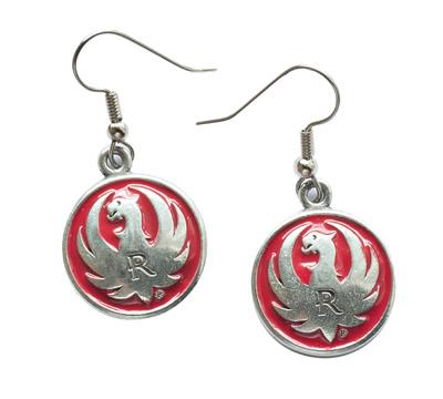 Pewter Red Earrings