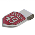 Pewter Red Money Clip