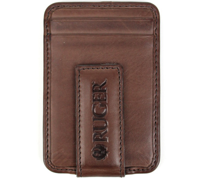 Magnetic Money Clip/Front Pocket Wallet - Brown