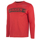 Red High Performance Long Sleeve Tee
