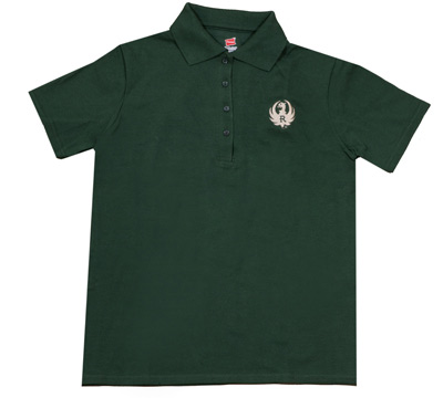 Ladies Pique Green Sport Shirt