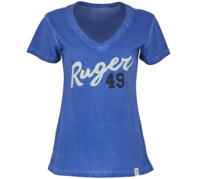 Ruger Women's Old Favorite V-neck - Royal Blue