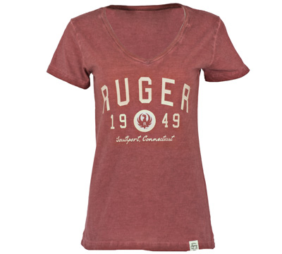 Ruger Women's Old Favorite V-neck - Crimson