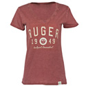 Ruger Women's Old Favorite V-neck - Crimson