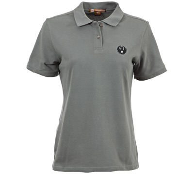 Ruger Women's Charcoal Cotton Pique Polo