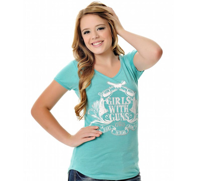 Teal Crossing Pistols Tee