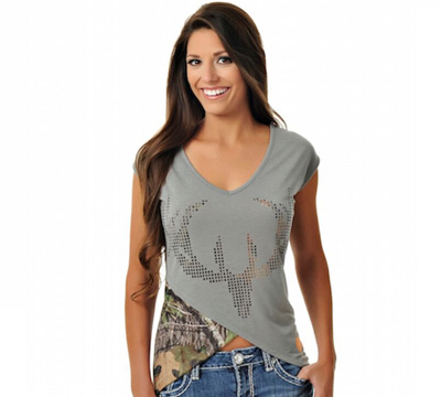 Mossy Oak® Country™ Punch Out Buck Head Tee