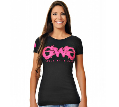 Girls with Guns  Black Tee