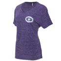 Women's Purple Snow Heather T-Shirt
