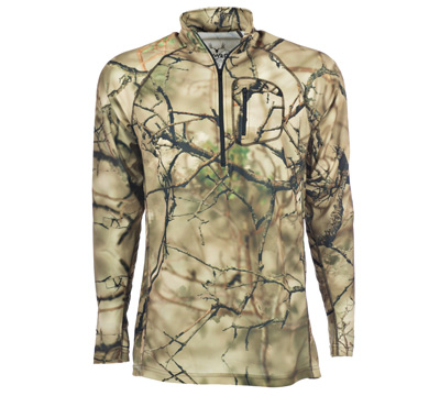 Go Wild® Camo I-M Brush ¼ Zip Shirt