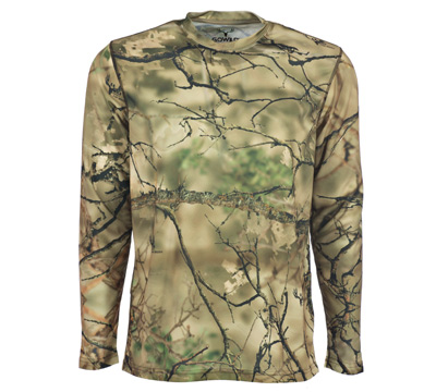 Go Wild® Camo I-M Brush Long Sleeve Crew
