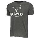 Go Wild® Camo Logo T-Shirt - Charcoal