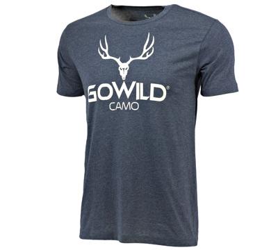 Go Wild® Camo Logo T-Shirt - Navy
