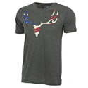 Go Wild® Camo Patriot Skull Charcoal T-Shirt