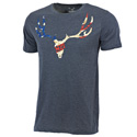 Go Wild® Camo Patriot Skull Blue T-Shirt