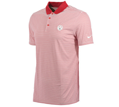 Nike Red Mini Stripe Victory Polo