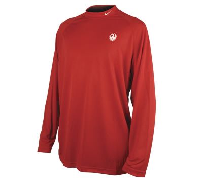 Red Nike® Mock Long Sleeve