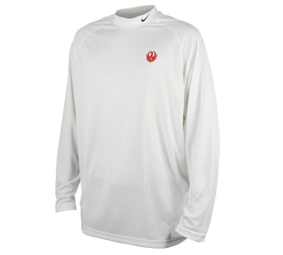 White Nike® Mock Long Sleeve