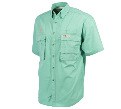 Fisherman Short Sleeve Shirt Aqua