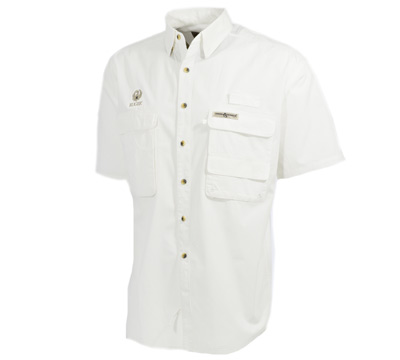 Fisherman Short Sleeve Shirt White