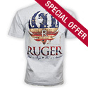 Ruger 4th of July American Pride - Gray Tee