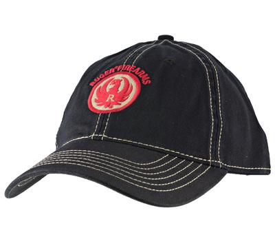 Black & Khaki Stitch Relaxed Twill Cap