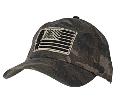 Men's Camo Cap - Frayed Embroidered Patch